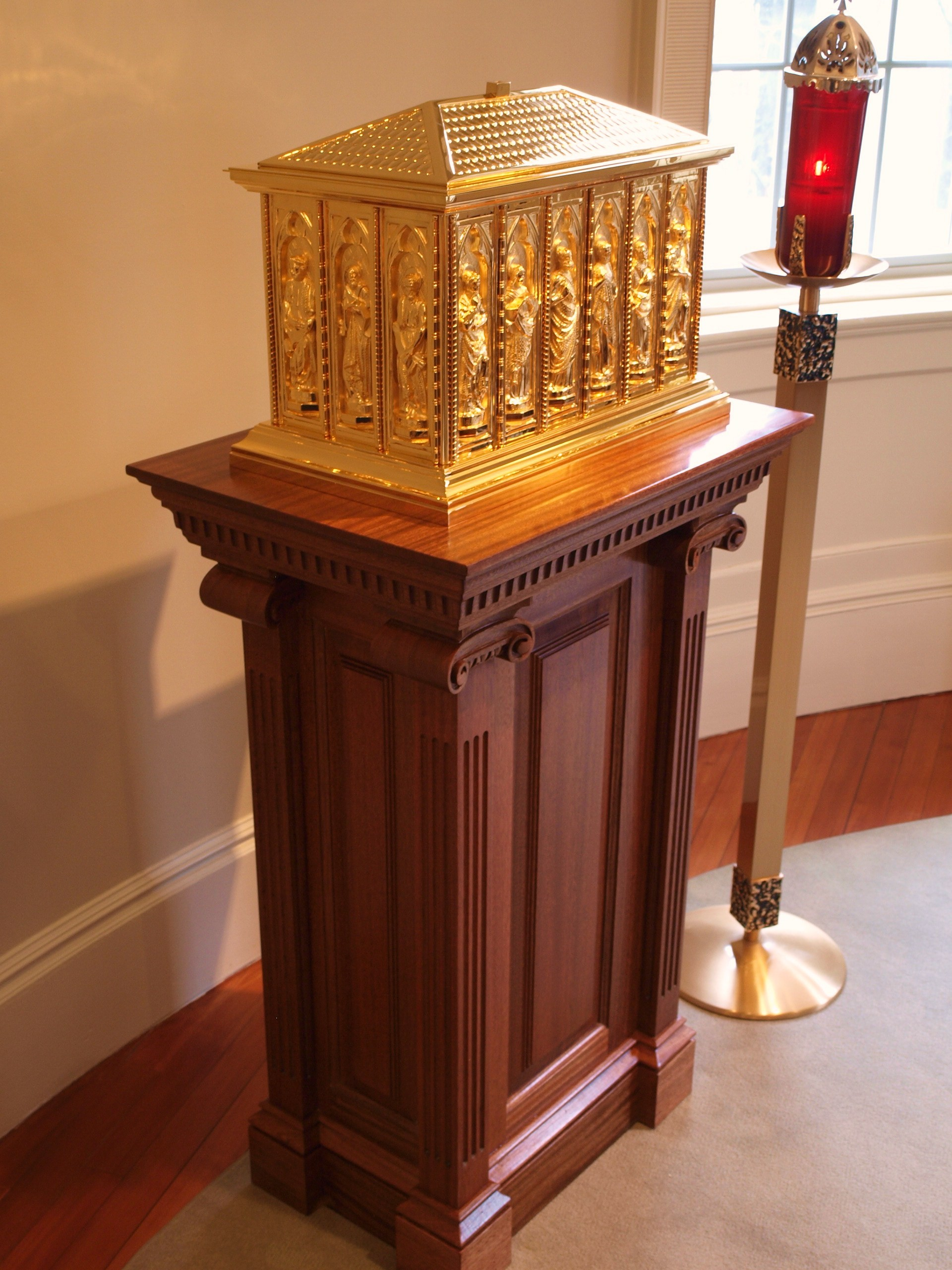Blog The Completed Mahogany Altar Set At St Joseph S